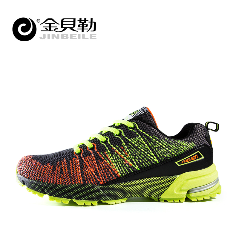 Jinbei le summer dascia fly line running shoes sports shoes men breathable mesh running shoes men leisure men's shoes cushioning shoes