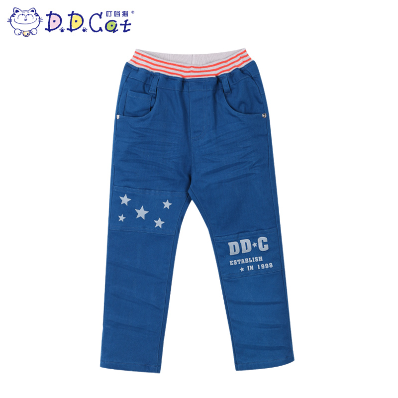 Jingle cats children's clothing boys korean version of the new winter thick warm trousers trousers in children's fashion crimp