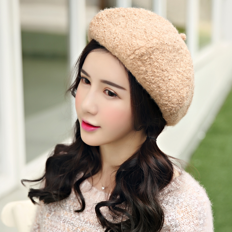 548823806f2 Get Quotations · Jiu lin autumn and winter hat female ms. masklike curly  cute japan and south korea