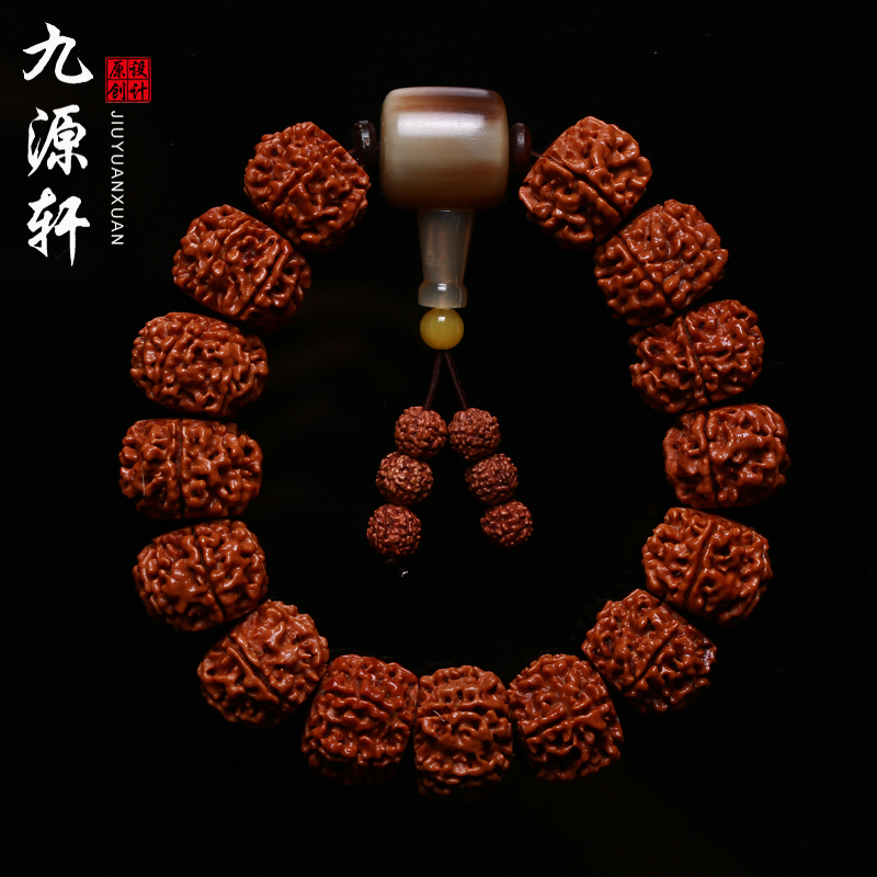 Jiuyuan xuan natural nepal donkey kong pu tizi rosary bracelets bracelet male and female mayhidden high density red flesh