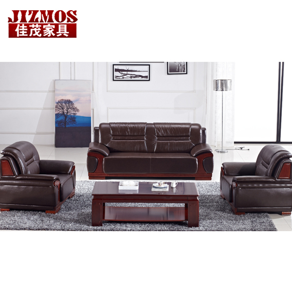 Jizmos shanghai office furniture office sofa sofa table minimalist atmosphere upscale leather sofa combination