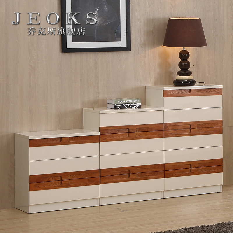Jocks wood frame white chest of drawers chest of drawers three four five doo doo cabinet living room cabinet lockers storage cabinets chest of drawers