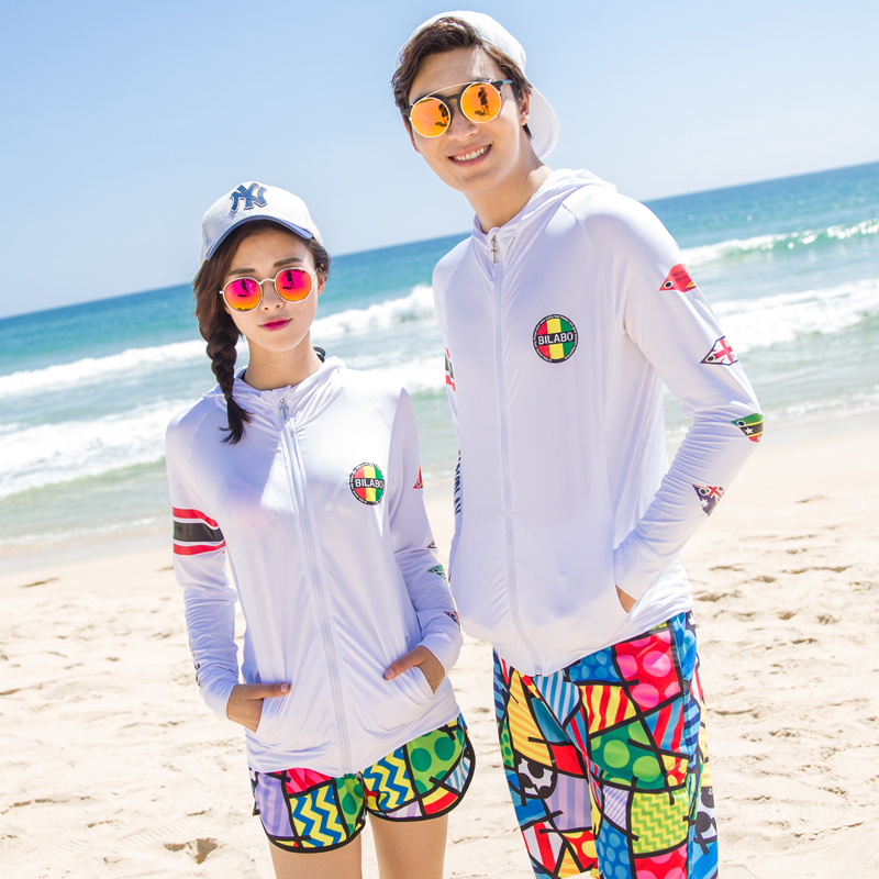 Jocr/joan kabob clothing anti sai beach lovers long sleeve sun protection clothing female summer men thin large size sun shirt 2016