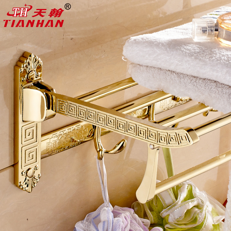 John day folding towel rack towel rack continental carved rose gold plated towel rack towel rack antique bathroom accessories bathroom supplies