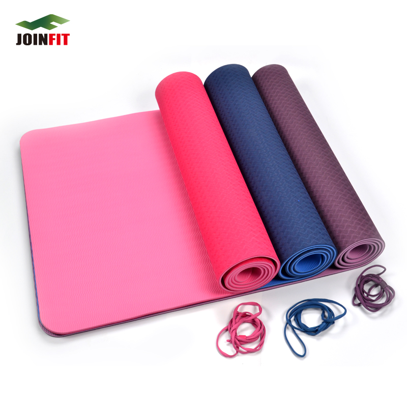 Joinfit fitness beginners yoga mat tpe increasingly widening campaign cushion pad supine thick 6mm