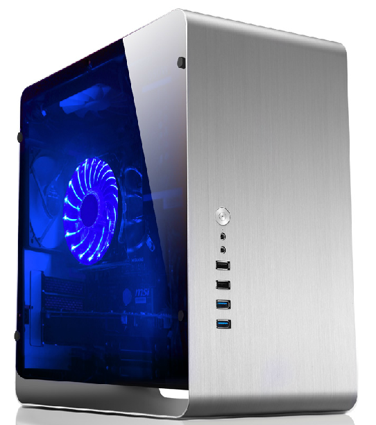 Jonsbo/qiao sibo UMX3 aluminum matx htpc small chassis desktop computer chassis side through the