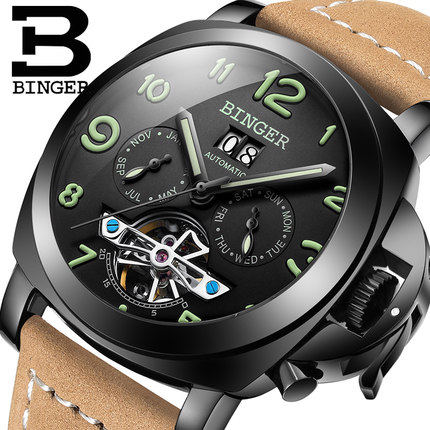 Jordan chan accusative watches men automatic mechanical watch waterproof luminous military form special type of outdoor male table tourbillon