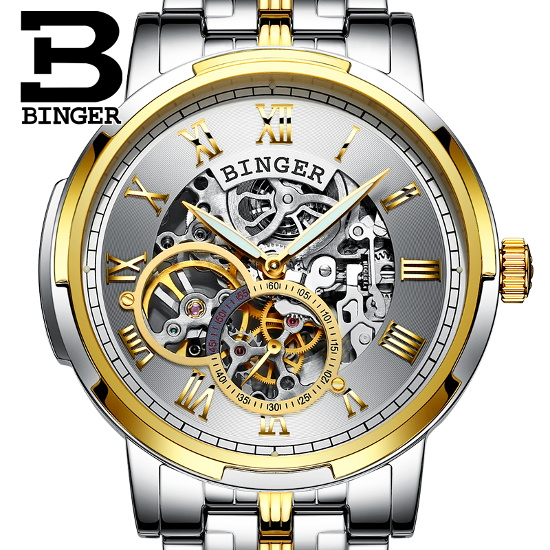 Jordan chan endorsement binger accusative genuine watches men automatic mechanical watch men watch men watch luminous hollow g