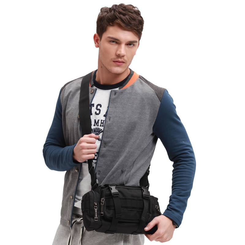 Jr campaign running tactical military style men's bag slung pockets outdoor leisure sports bag shoulder bag travel bag