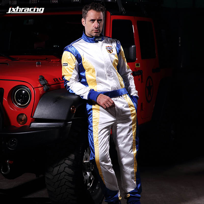Jxhracing relative hou kart racing suits for men and women four seasons paragraph test drive wear coveralls