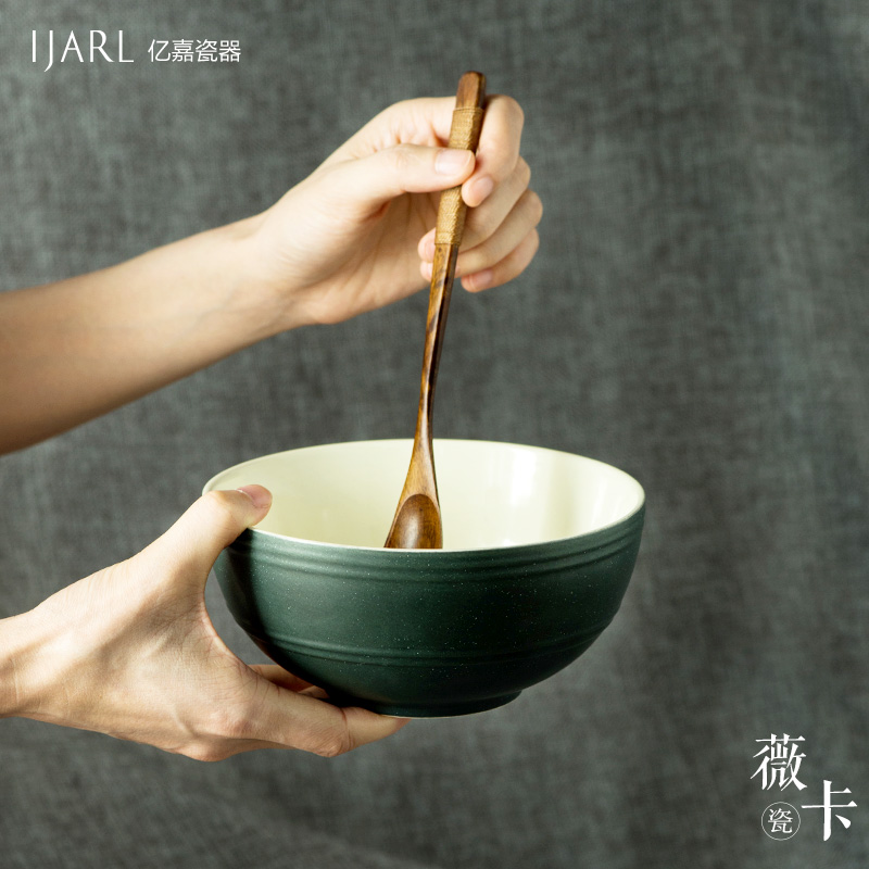 Ka billion creative japanese ceramic tableware large bowl of millet home to eat rice bowl rice bowl of instant noodles bowl jorvi card