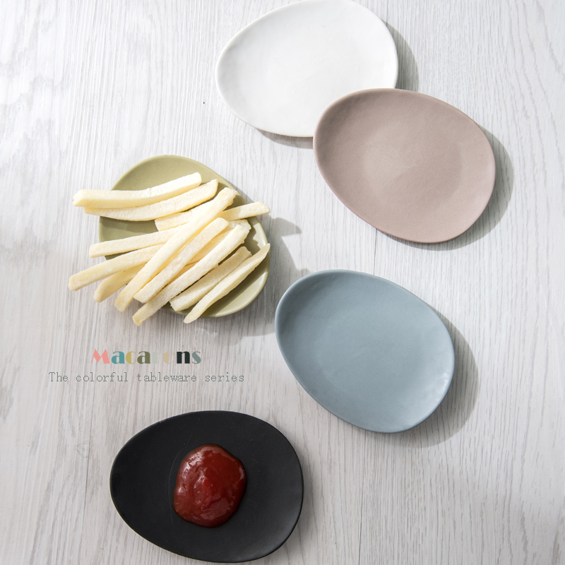 Ka billion korean solid oval creative ceramics weidie pickles mustard dipping sauce dish dish flavored dishes multi