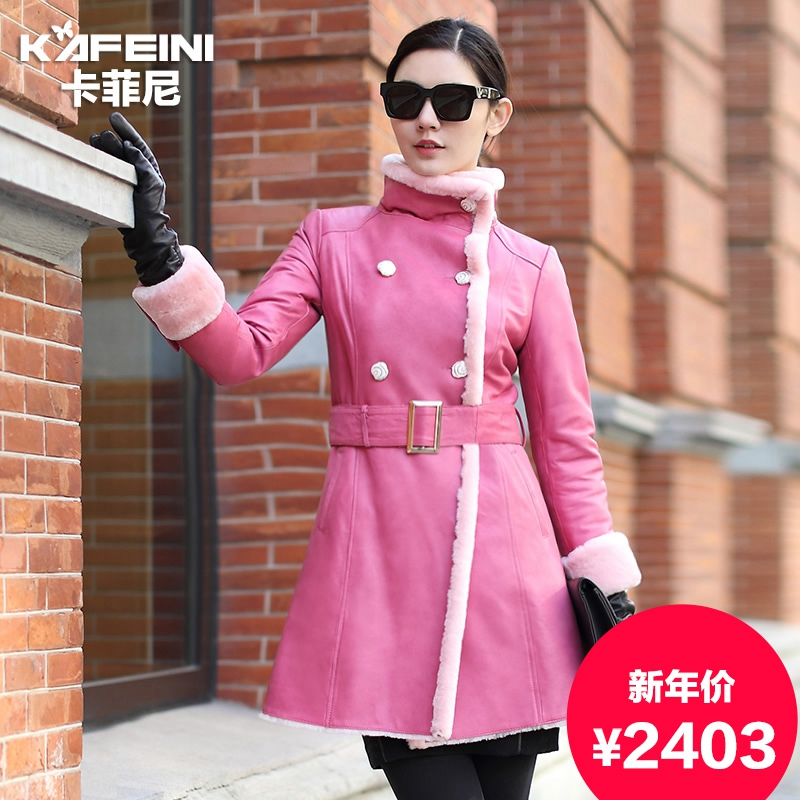 Ka feini 2015 new sheep skin leather leather female fur coat fur coat haining leather sheepskin fur coat