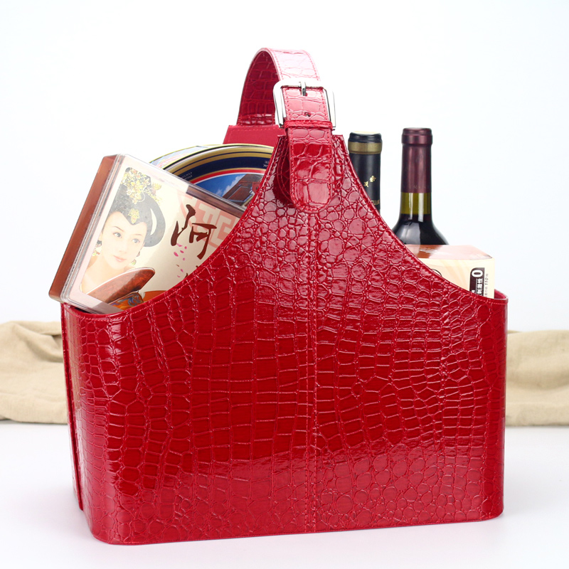Kafu lan leather leather storage basket storage basket christmas gift basket to send new year's gift basket ideas