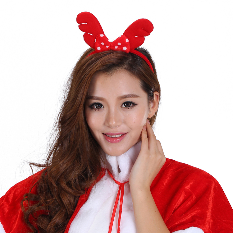 Kai xuan christmas decorations christmas ornaments christmas antlers headband head buckle bow christmas decorations