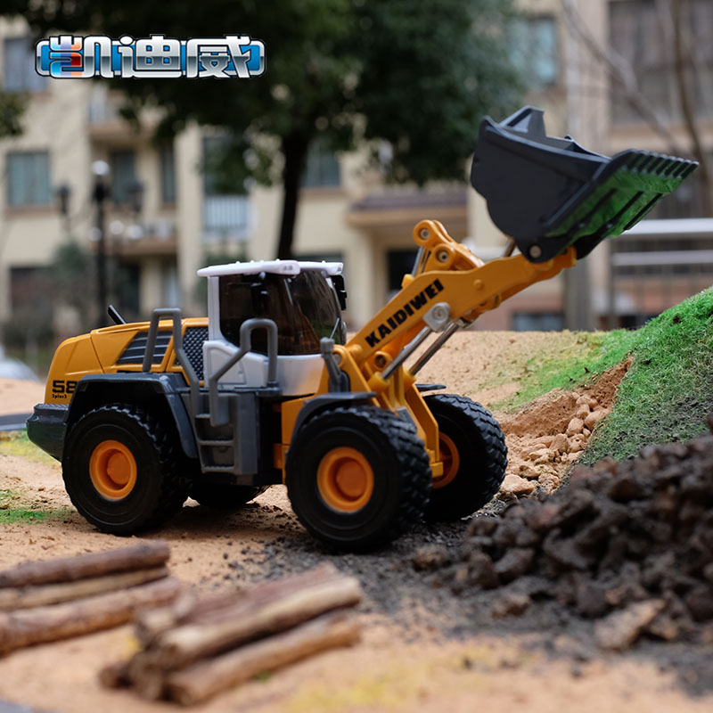 Kaidi wei 1:508 large forklift truck bulldozer excavator children's toys alloy construction vehicles toy car model