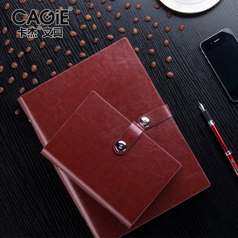 Kajie a6/a5/b5 binder leather notepad business office stationery notebook binder pda notebook customization