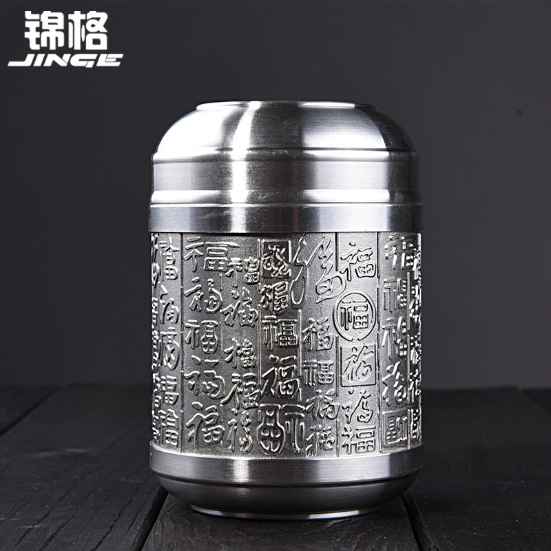 Kam grid portable boutique pure tin canisters sealed cans kept in the number of tea tin tea caddy tin cans gift box