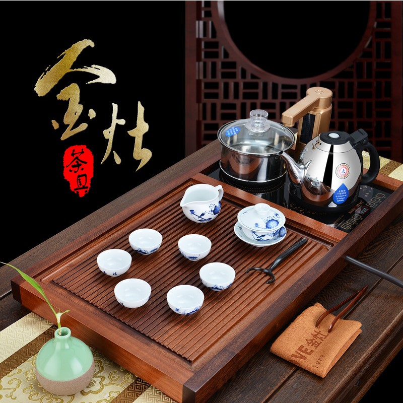 Kamjove/gold stove v518 wood tea tray tea sea kung fu tea tea machine intelligent automatic genuine direct
