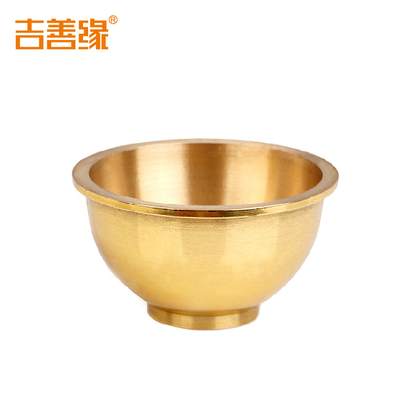 Kat karma copper cup cup cup glass to worship buddha buddhist feng shui crafts ornaments 1053