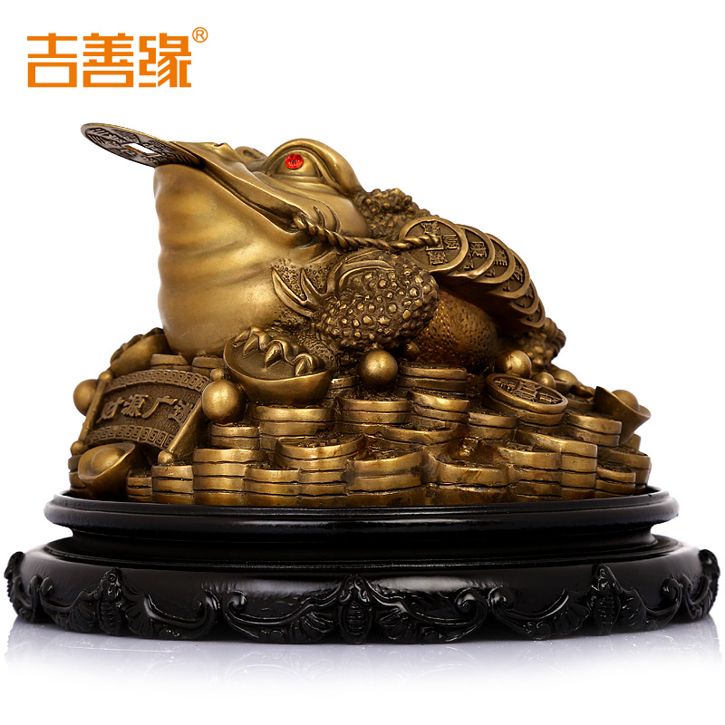 Kat karma copper ornaments lucky toad toad three legged toad toad opening gifts feng shui home furnishings accessories 0359