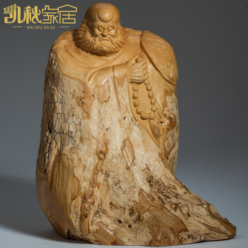Patriarch bodhidharma buddha statue boxwood carving delicate