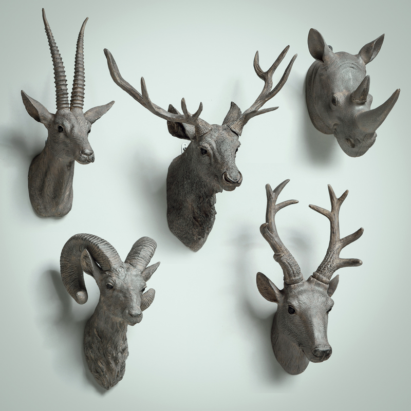 Kc lamps nordic lipped deer animal head wall hangings large angle of amniotic fluid deer resin rhino head wall pieces of ornaments
