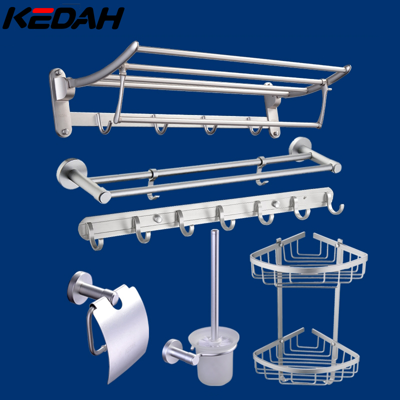Kedah space aluminum folding towel rack bathroom towel rack towel rack bathroom shelf bath wei metal pendant kit