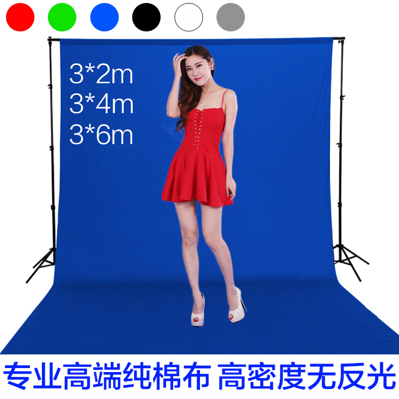 Keying anchor live portrait photograph photographic photography background cloth cotton cloth 3*2 4 6 m red and white solid