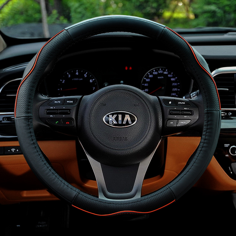Kia sportage sportage sorento k3k4k5 KX5KX3 l freddy car leather steering wheel cover to cover