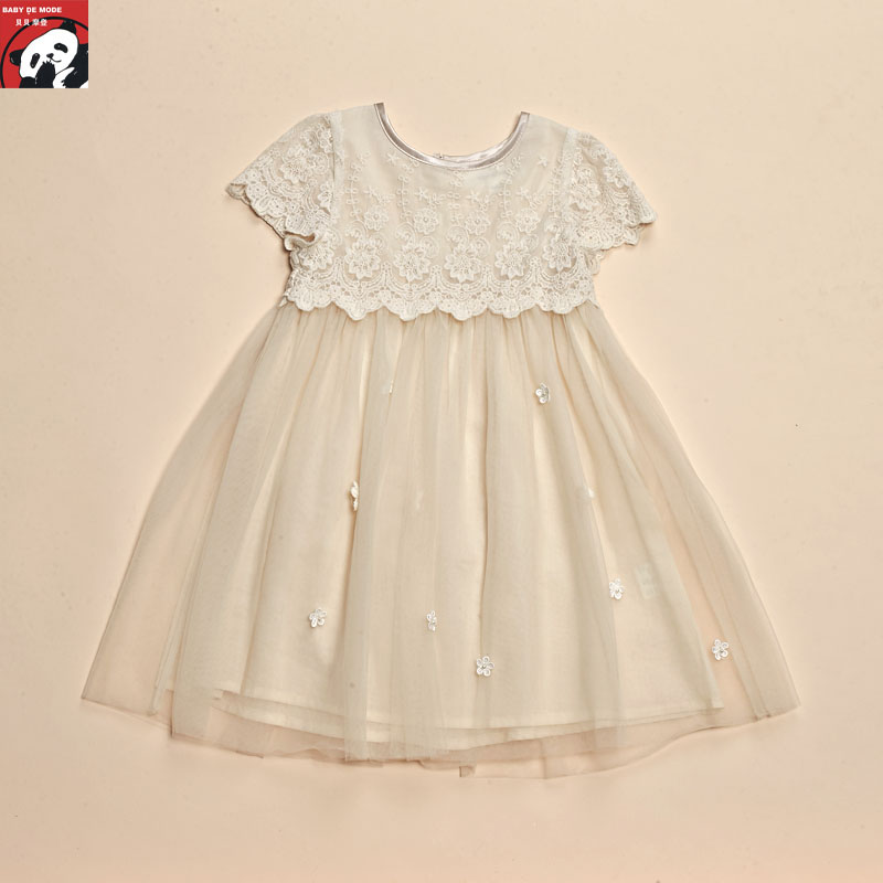 Kids spring and autumn spring and summer [babe modern authentic] dress