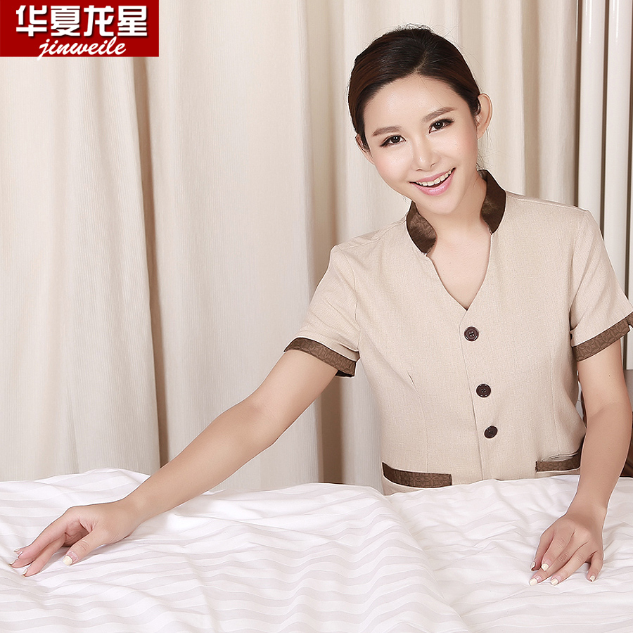 Kim wai lok hotel uniforms pa cleaning staff uniforms hotel room cleaners cleaning clothes short sleeve summer uniforms aunt