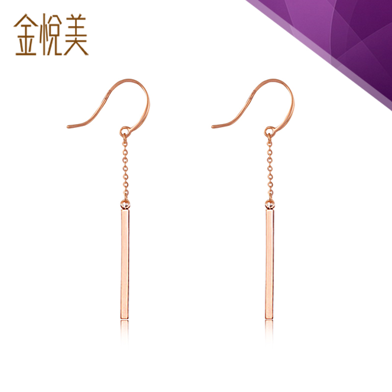 Kim wyatt us 2016 summer new word k gold earrings rose gold earrings female tassel ear hook earrings simple