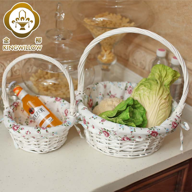 Kim yoo household kitchen storage box storage basket storage baskets rattan wicker straw portable baskets of fruit and vegetables