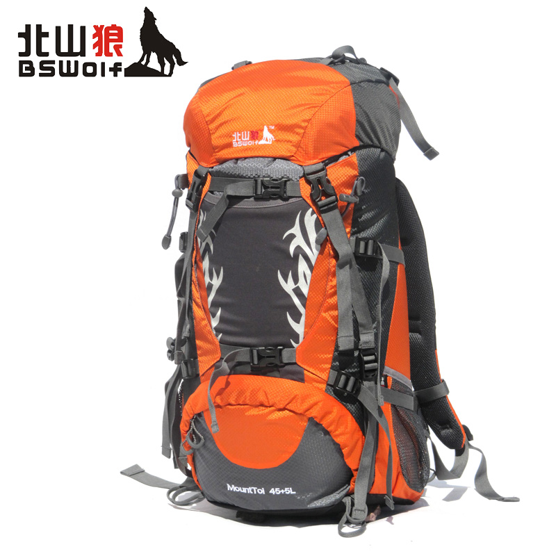 Kitayama wolf outdoor backpack mountaineering bag shoulder bag men and women travel bag authentic outdoor camping 50l