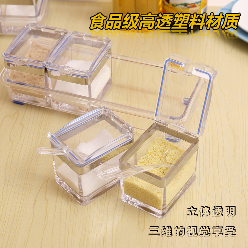 Beau Get Quotations · Kitchen Supplies Transparent Plastic Boxes Seasoning  Condiment Bottles Msg Seasoning Salt Seasoning Cans Family Of Four