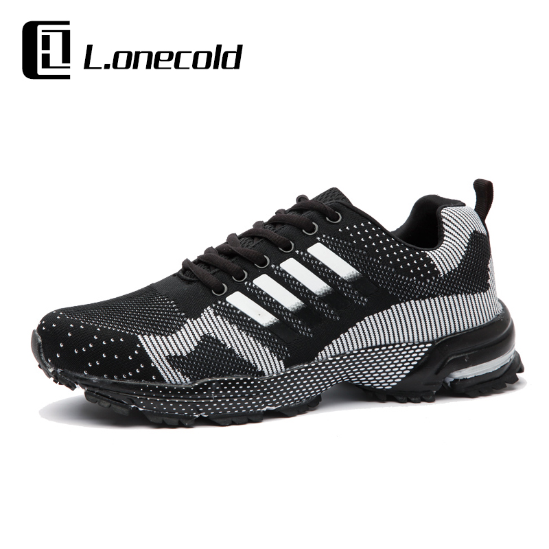 Knit fly line sports shoes men running shoes genuine breathable mesh summer leisure trip travel shoes shoes running shoes lovers