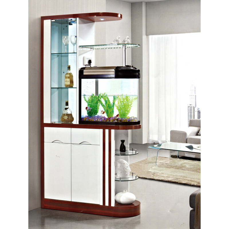 Get Quotations · Kofi 1.0 M Red Walnut Modern Minimalist Living Room  Aquarium Entrance Hall Cabinet Sided Cooler Off