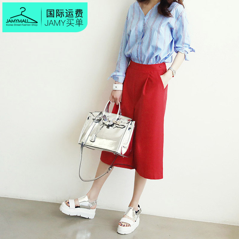 Korea authentic korean version of the classic fashion trend personality casual loose long pants