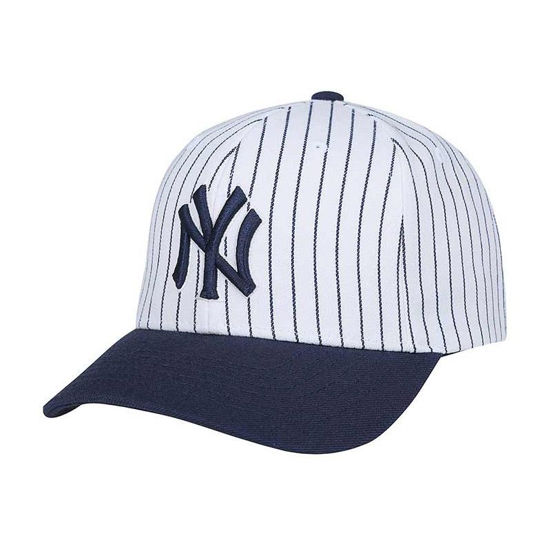 09941f9a Get Quotations · Korea-authentic mlb ny yankees baseball cap visor cap  denim striped hat cap men and