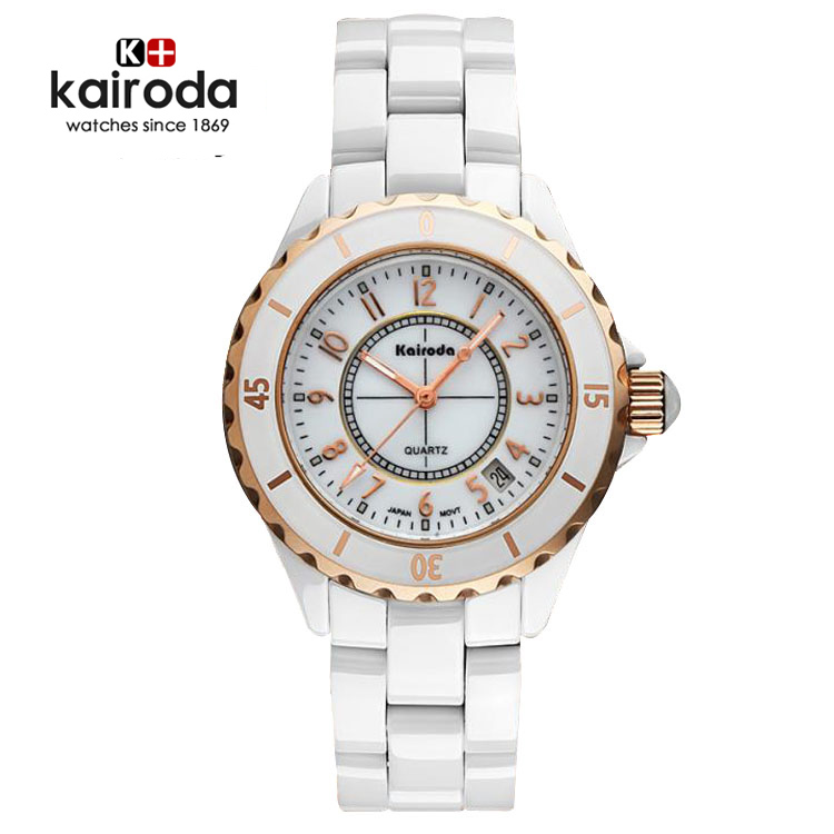 Korea authentic watches white ceramic ladies watch rose gold watch lovers table waterproof watch fashion watch