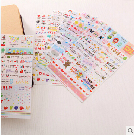 Korea diy album essential diary transparent stickers decorative stickers phone stickers handmade