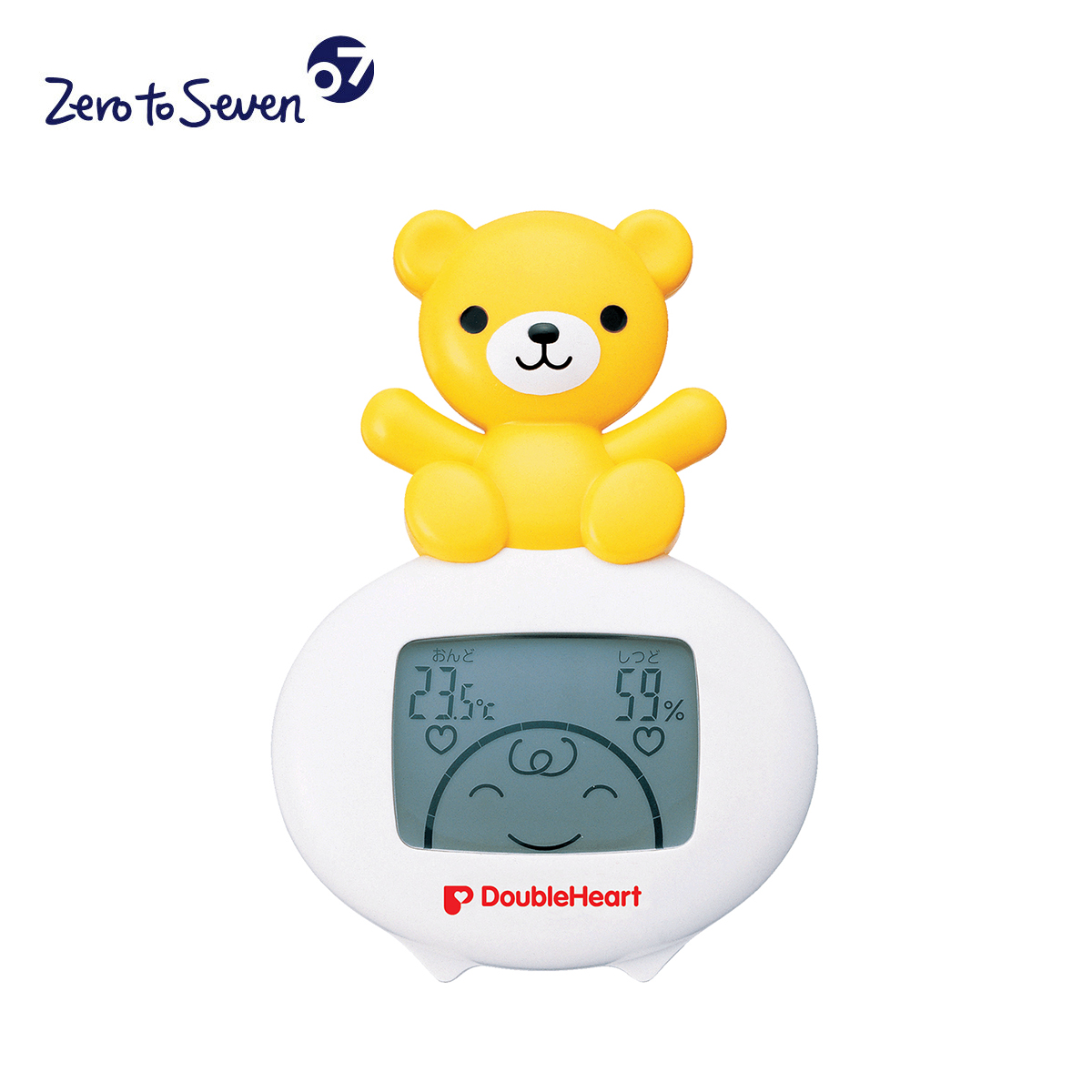 Korea genuine direct mail double heart infant baby thermometer teddy bear style