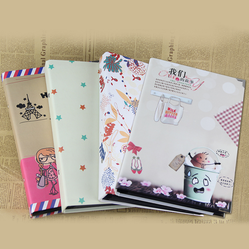Korea handmade diy album plus page 10 inch 7 10-inch inner vertical version of the black card album album creative album