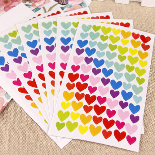 Korea handmade diy paste album album essential decorative stickers cute personality bright color 6/pack