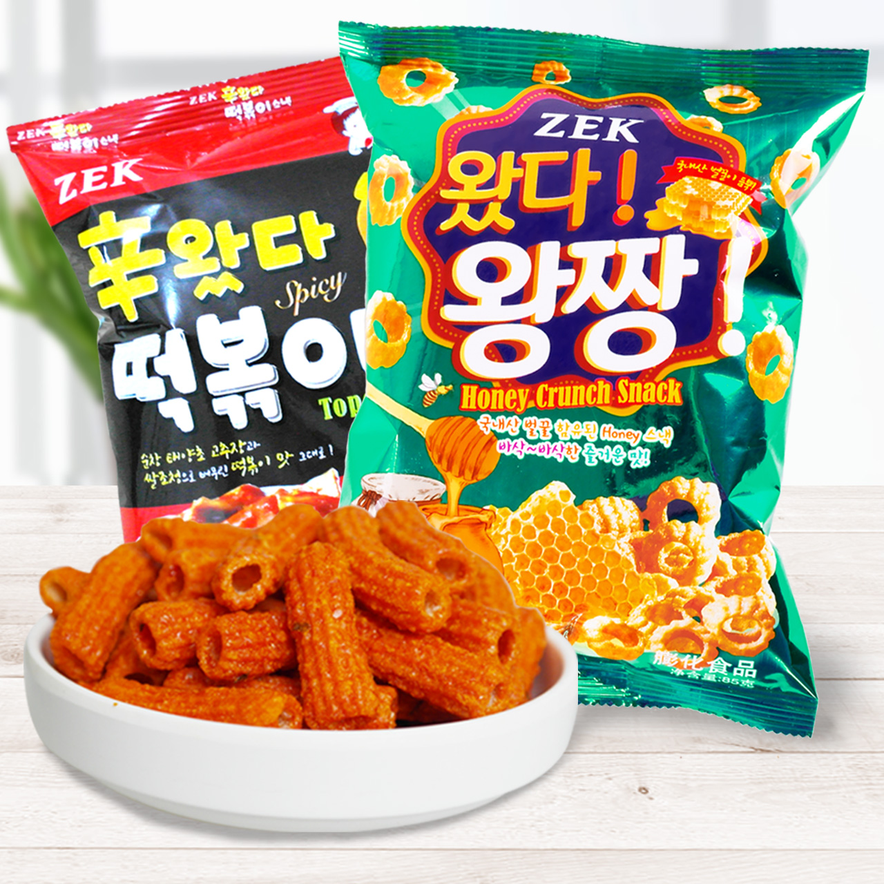 Korea zek honey crisp crisp music/tteokbokki article 85g zero food imported from korea dse-25 children Snacks