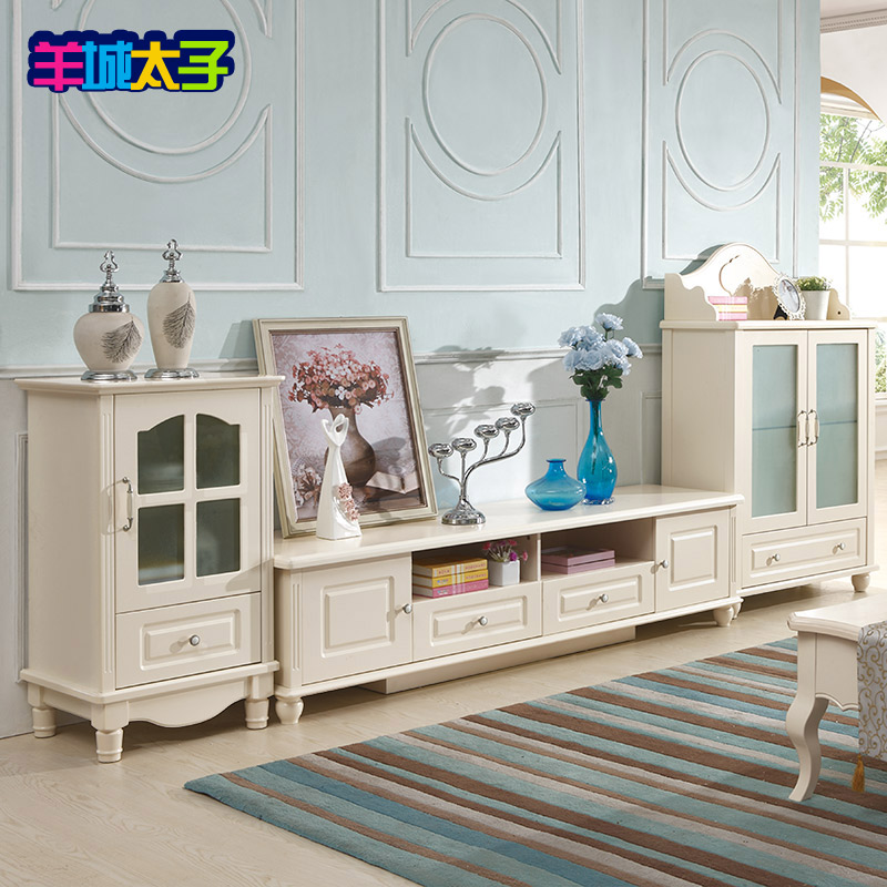 Korean countryside tv cabinet tv cabinet combination living room furniture wine cabinet tv cabinet single door cabinet cabinet cabinet office