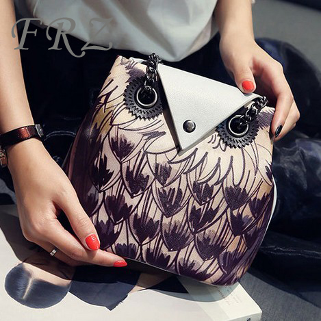cd4719cea5 Get Quotations · Korean fashion creative cartoon owl animal shapes  personality tide female bag chain bag small bag messenger