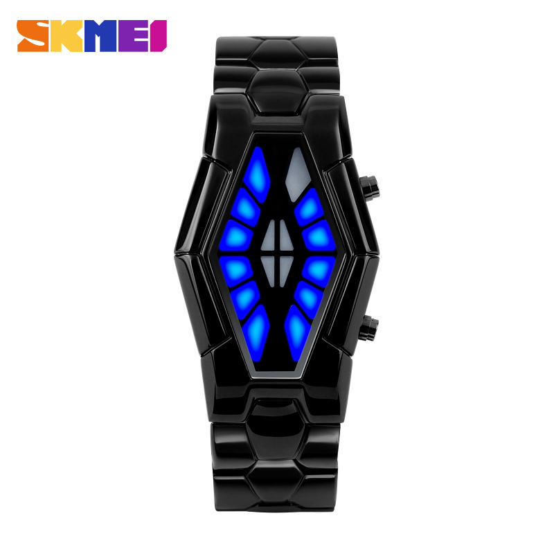 Korean fashion moments us creative personality waterproof led electronic watches men's watches students watch male table watch