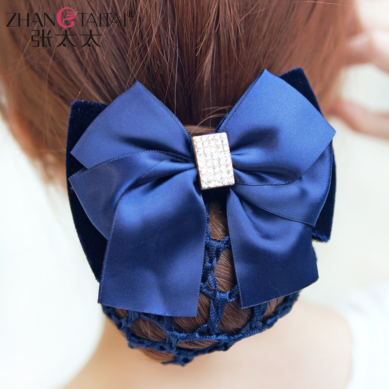 Korean hair accessories wholesale professional nurse bank hotel bow head flower hairpin hairpin plate made of hairpin wangdou b088